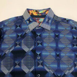 Robert Graham Mens Small Classic Fit  Button Front